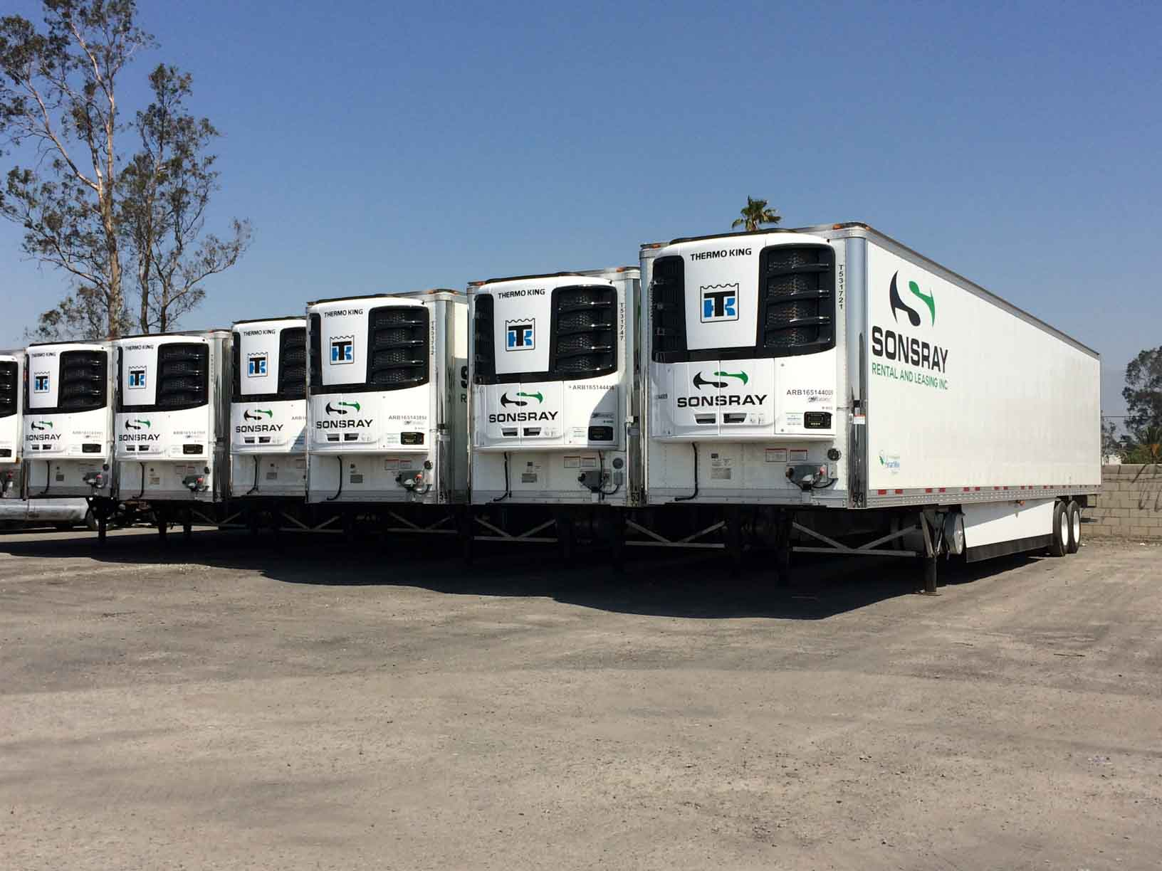 Single Temperature Refrigerated Trailers - Sonsray Rental